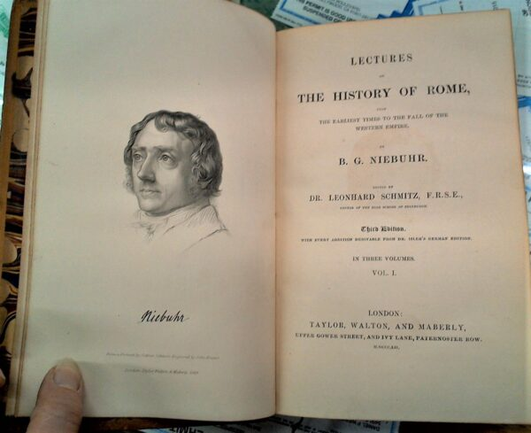 History of Rome title page and frontispiece
