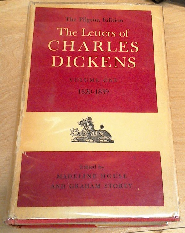 The Letters of Charles Dickens jacket front