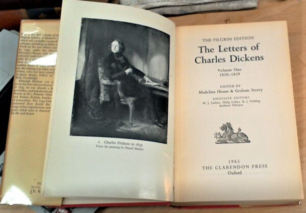 The Letters of Charles Dickens title page and frontispiece