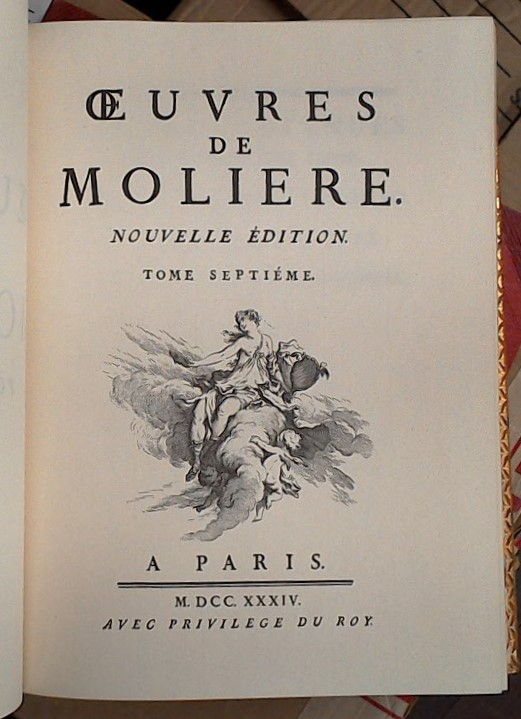 Oeuvres de Moliere title page