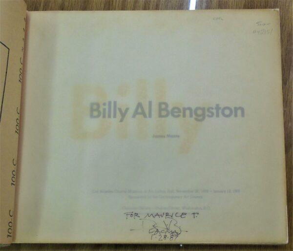 Billy Al Bengston title page