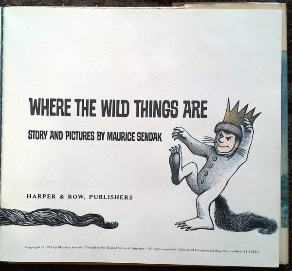 Where the Wild Things Are title page