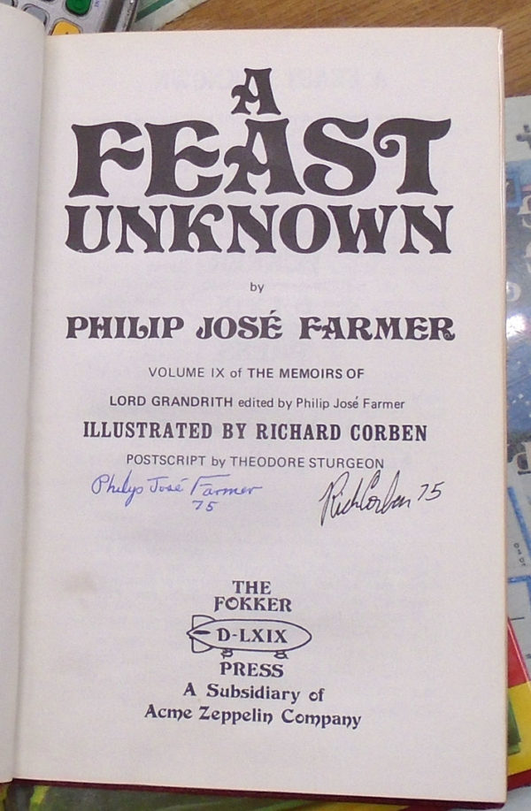 A Feast Unknown title page and signatures