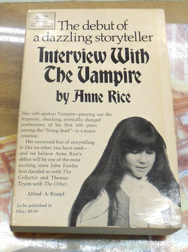 Interview With the Vampire front cover