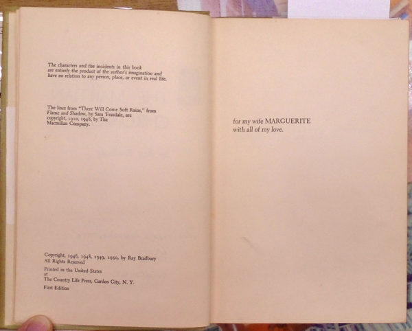Martian Chronicles copyright page