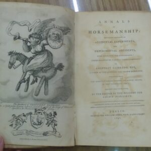 Annals of Horsemanship title page and frontispiece