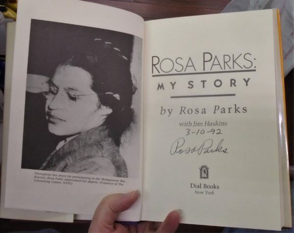 Rosa Parks signed page