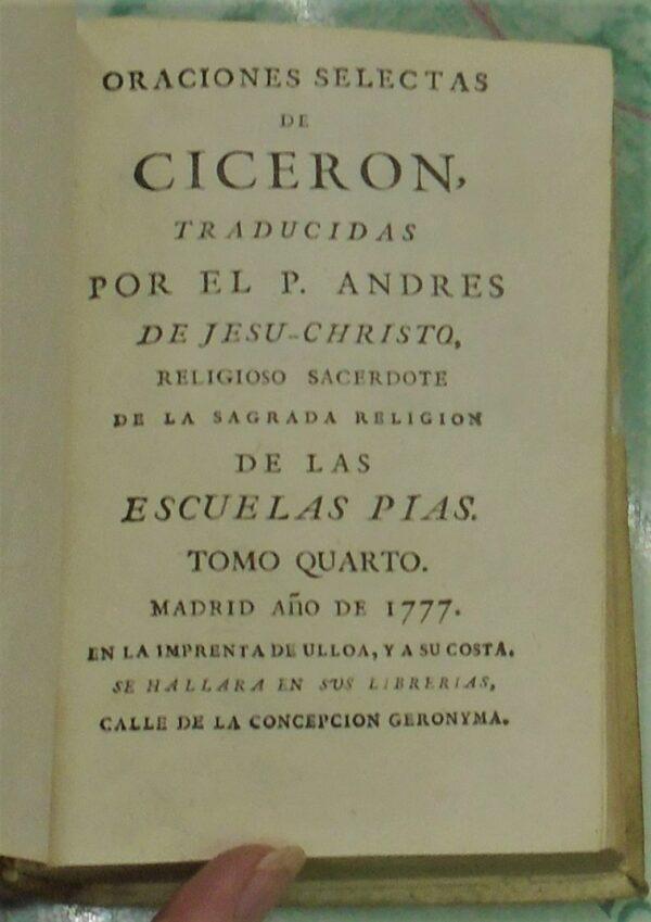 Cicero title page