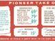 A vintage Pioneer Chicken menu