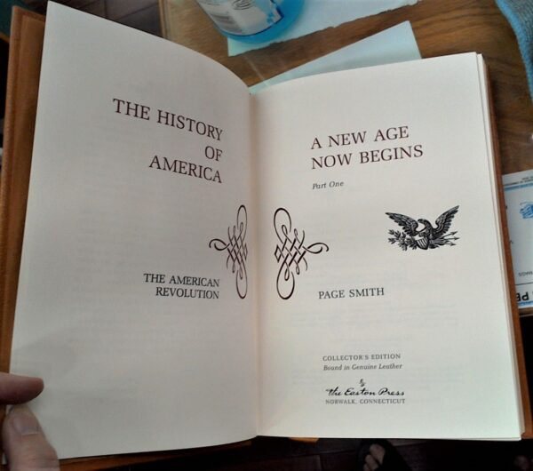 The History of America title pages
