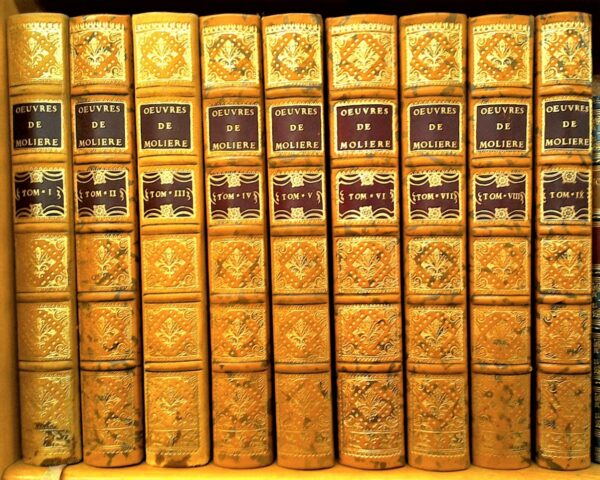 Oeuvres de Moliere spines