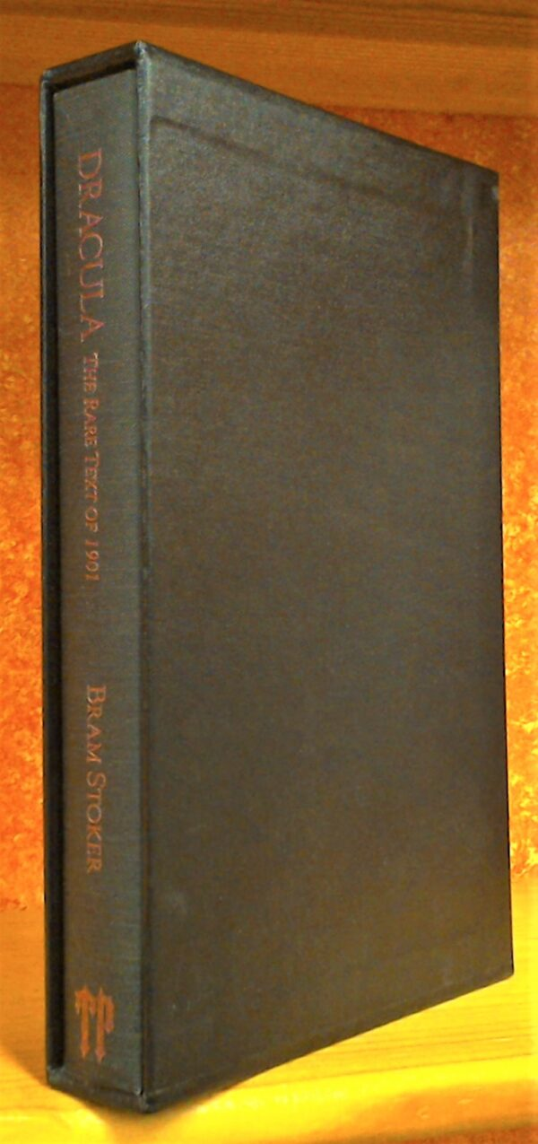 Slipcase and spine for Dracula The Rare Text of 1901