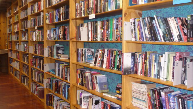 Wall of sales books