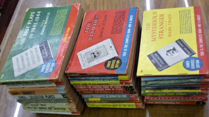 Stacks of Armed Services Editions