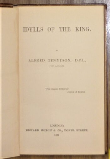 Hawes Idylls of the King title page