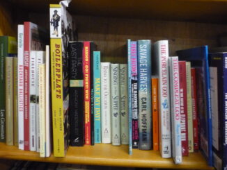 A shelf in the Oddities section
